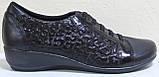 Туфли черные кожаные женские большого размера от производителя модель МИ3001-5Р, фото 2