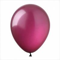 """Латексный шар без рисунка Kalisan Металлик Бордовый 12"""" 30 см"""