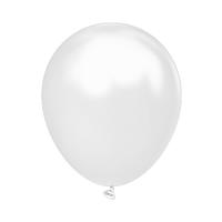 """Латексный шар без рисунка Kalisan Металлик Белый 12"""" 30 см"""