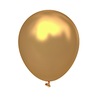 """Латексный шар без рисунка Kalisan Металлик Золотой 12"""" 30 см"""