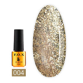 Гель-лак F. O. X. 6 мл Brilliance №004 золото