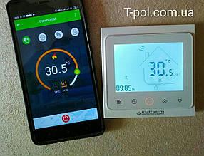 Терморегулятор In-Therm pwt-002 c wi-fi управлением для теплого пола и для настенных обогревателей