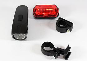 Набор велофонарей фонарь передний и задняя мигалка в наборе с креплением 860