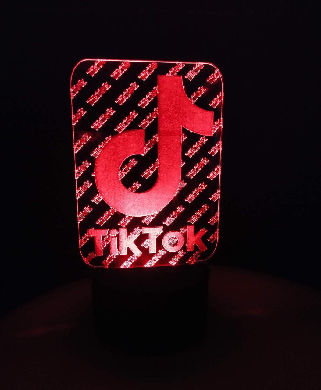 3d-світильник Tik Tok, Твк Струм, 3д-нічник, кілька підсвічувань (на батарейці)