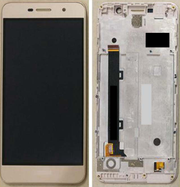 Дисплей (экран) для Huawei Y6 Pro TIT-U02 с сенсором (тачскрином) и рамкой золотистый