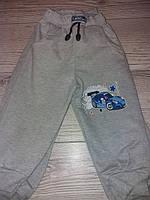 Спортивні штани для хлоп сірі з машинкою 86,92,98,104