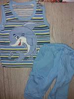 Літн. кост для хлоп майка + брідж з дельф. 86-92