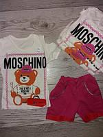 Літній костюм для дівчинки MOSCHINO