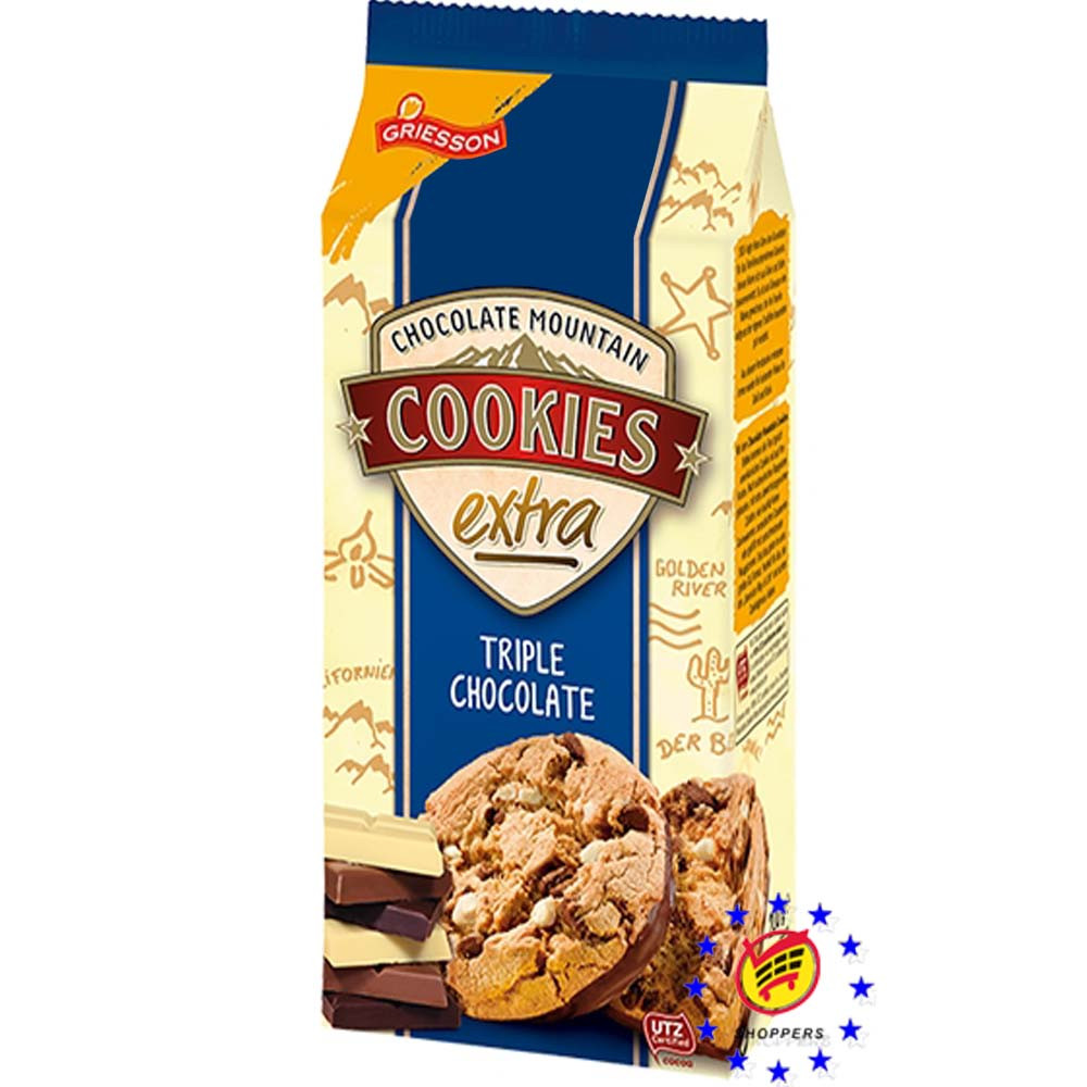 Печенье Griesson Cookies Extra Triple Chokolate 200 г