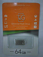 Флеш-накопитель USB 64GB T&G 109 Metal Series Silver (TG109-64G)