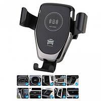 Крепление телефона в авто с беспроводной зарядкой HWC1 Черный, фото 1