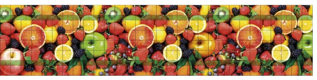 Панно з панелей Регул ПВХ Фруктовий десерт 0,6мм 922х645мм комплект 3шт