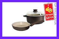 """Набор посуды антипригарный Биол - сковорода 240 мм + кастрюля 4 л """"мокко"""",M24PC, Набор посуды антипригарный Биол - сковорода 240 мм + кастрюля 4 л"""