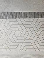 Обои виниловые на флизелине Marburg City glam метровые геометрия полосы серебром на белом фоне под штукатурку