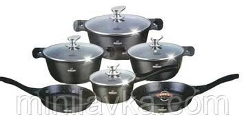Набор посуды Bohmann BH 60-11 Black 11 предметов