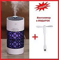 Увлажнитель воздуха LUCKY CUP Черный | Ночник- очиститель воздуха с подсветкой и вентилятором