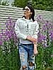Куртка джинсовая укороченная 4004 (51),  черный,белый  42,44,46 размеров, фото 3