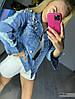 Куртка джинсовая стильная 4009 (51), размер универсал 42-46, фото 4