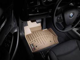 Ковры резиновые WeatherTech BMW X3 2010-2017 передние бежевые