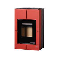 Отопительная печь-камин длительного горения AQUAFLAM VARIO SAPORO (красный), фото 1
