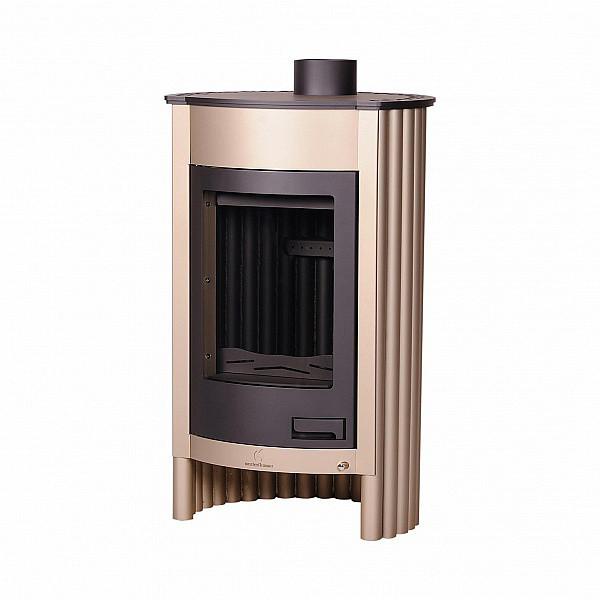 Отопительная печь-камин длительного горения Masterflamme Medie I (кремовый металлик)
