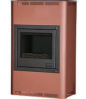 Отопительная печь-камин длительного горения AQUAFLAM 25 (водяной контур, полуавтомат, бронза), фото 1