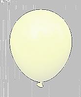 """Латексный шар без рисунка Kalisan MACARON Желтый 12"""" 30 см"""