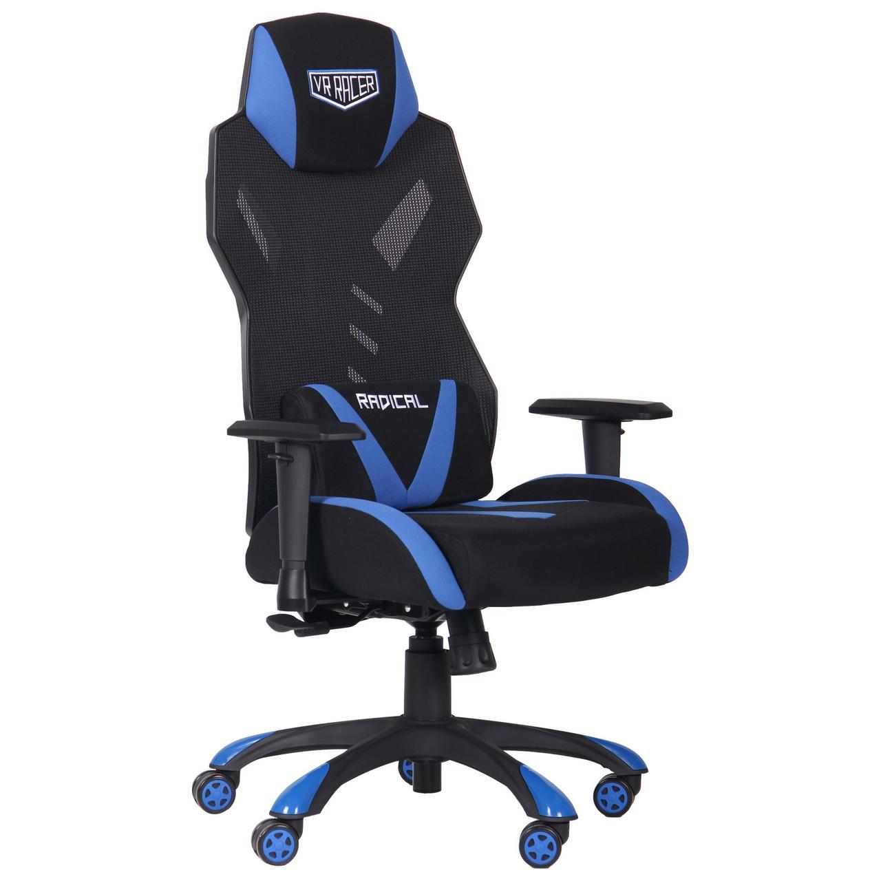 Кресло VR Racer Radical Krios черный/синий