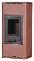 Отопительная печь-камин длительного горения AQUAFLAM 12 (водяной контур, ручная рег, бронза), фото 1