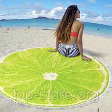 Пляжный коврик полотенце. Лайм Размер 150*150 см.