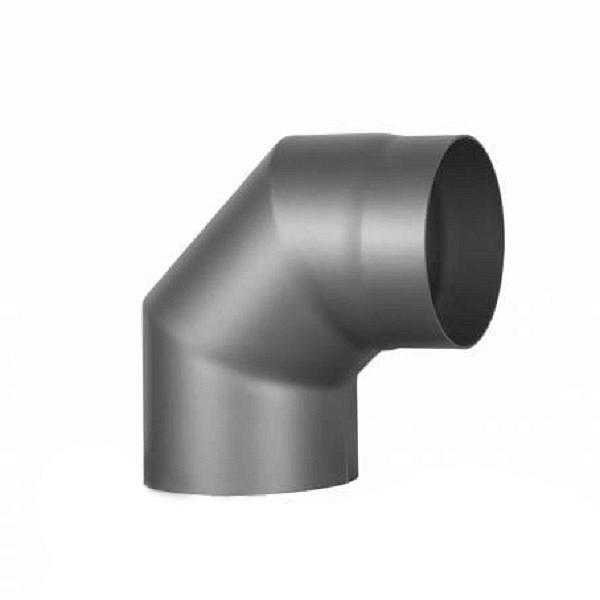 Колено 2 на 45° Ø200 мм из черной стали
