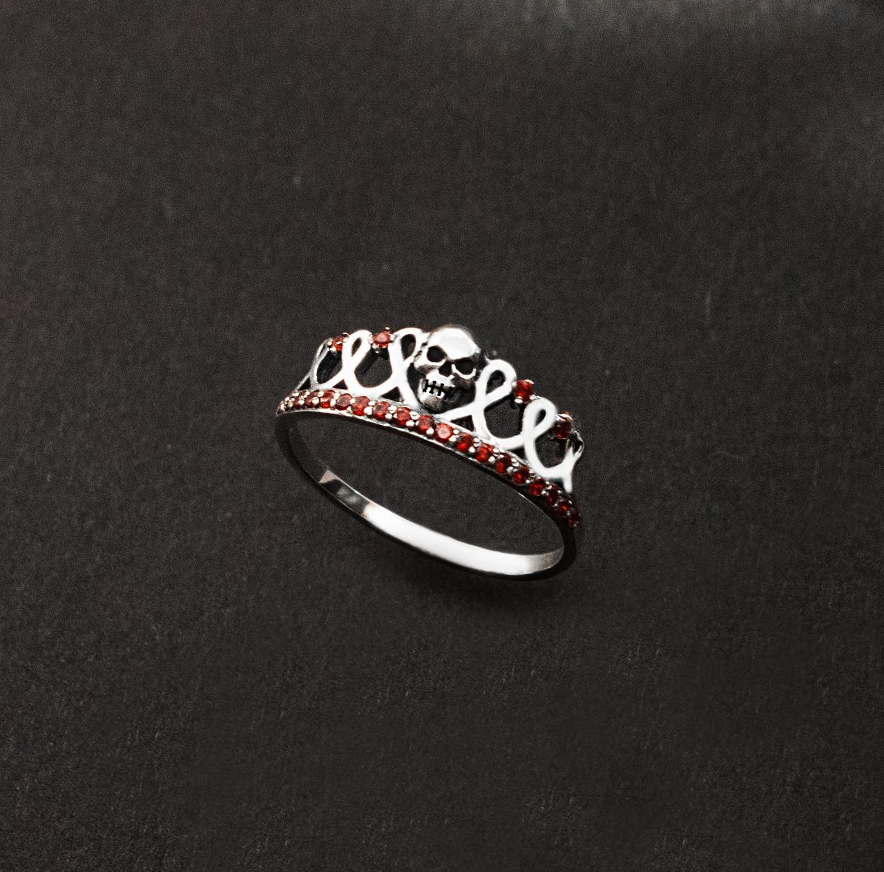 Авторское женское кольцо из серебра Череп КЦ-105 Б