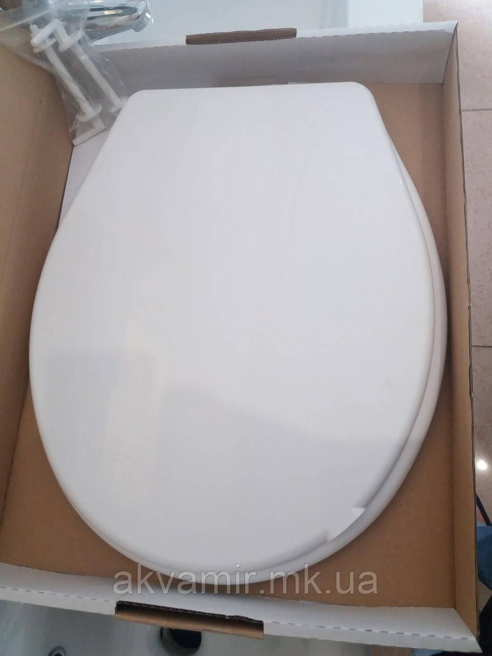 Сиденье с крышкой для унитаза Nova 2010N белое (Турция)