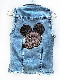 Жилет джинсовый для девочки, размер 6 лет