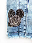Жилет джинсовий для дівчинки, розмір 6 років, фото 3