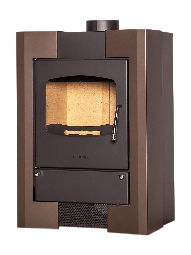 Отопительная печь-камин длительного горения FLAMINGO ESPO I (коричневый бархат)