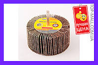 Круг лепестковый в оправке Mastertool - 80 х 40 мм, Р40,08-2294, Круг лепестковый в оправке Mastertool - 80 х 40 мм, Р40, круги шлифовальные на