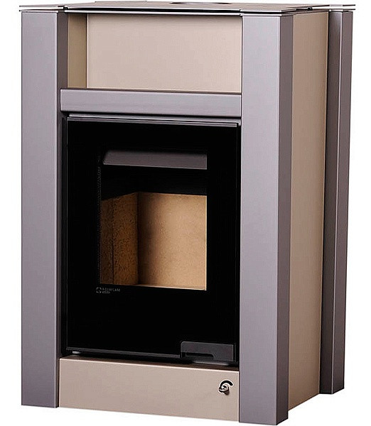 Отопительная печь-камин длительного горения AQUAFLAM VARIO LEND (коричневый бархат)