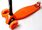 Детский четырехколесный самокат    oter Maxi оранжевый (светящиеся колеса)    , фото 3