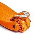 Детский четырехколесный самокат    oter Maxi оранжевый (светящиеся колеса)    , фото 6