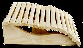 Подголовник анатомический 350/350 мм липа для бани и сауны
