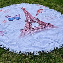 Пляжный коврик полотенце. Париж 150*150 см.