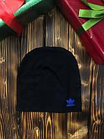 Шапка - в стиле Adidas ( Чёрная из синим )