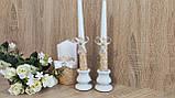 Набор свадебных свечей Diamond. Цвет золото., фото 3
