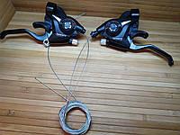 Манетки моноблок Shimano ST-EF51 3 + 7 скоростей переключатель скоростей