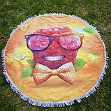 Пляжный коврик полотенце. Малина. Размер 150*150 см., фото 2