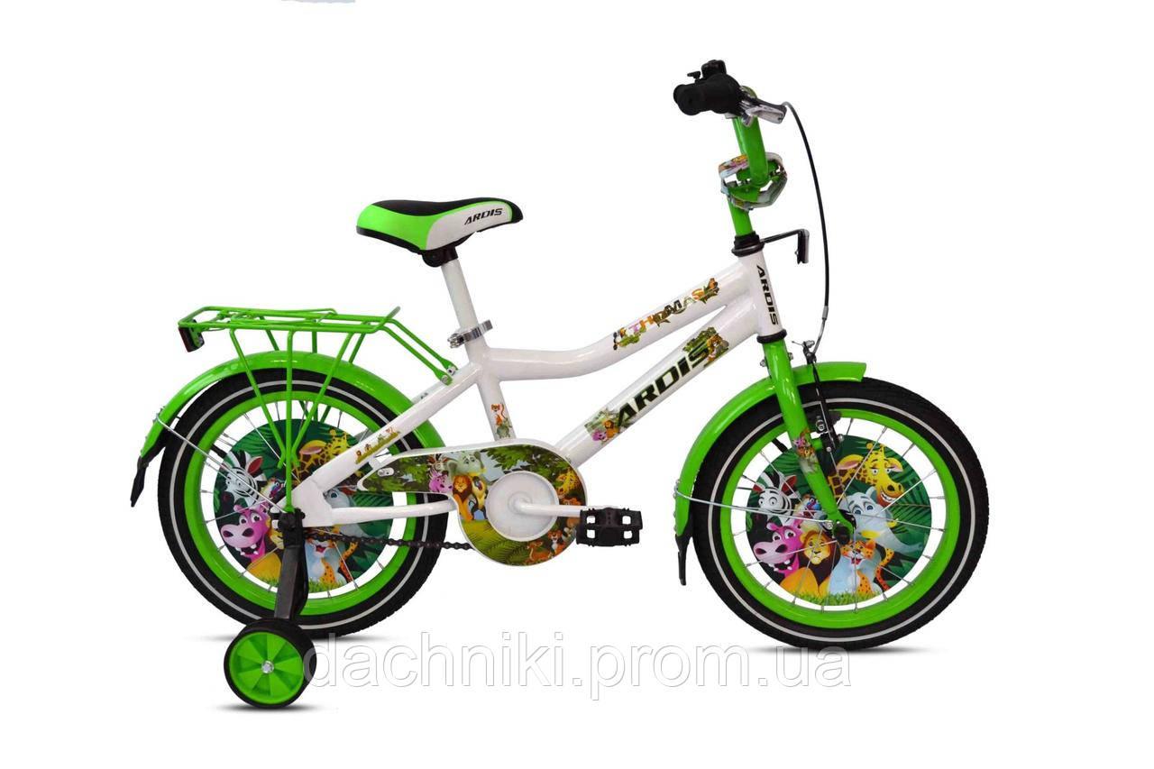"""Детский велосипед ARDIS THOMAS 16"""" Белый/Зеленый"""