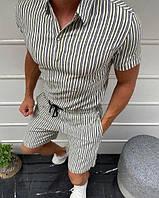 Стильный мужской комплект: рубашка и шорты, Турция (три модели)