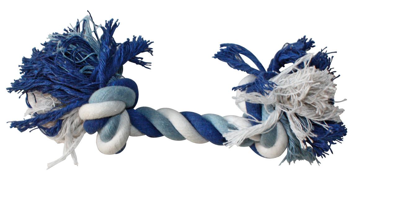 Игрушка для собак CROCI. Канат грейфер с узлами, синий, 20 см