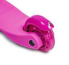 Детский трехколесный самокат   oter Mini (Розовый)  (светящиеся колеса)   , фото 3